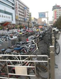 王府井の自転車置き場1