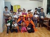韓国へサッカーボール