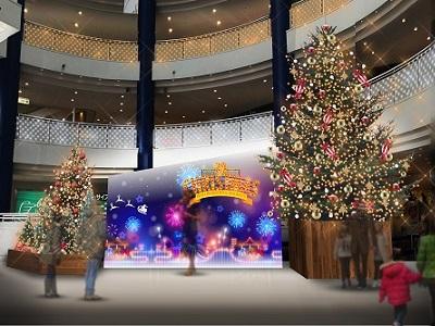 都筑区センター南の港北東急SCで「クリスマス点灯式」開催! センター南の街がイルミネーションで輝き始めました!