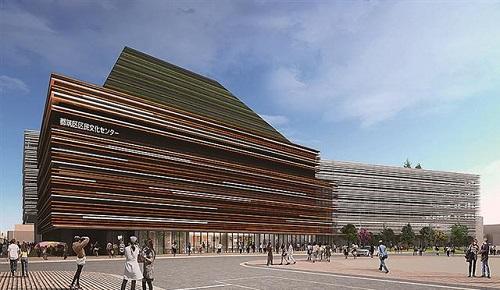 都筑区センター北の「都筑区民文化センター建設地」でボーリング工事開始!