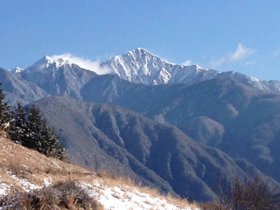 2月の聖岳