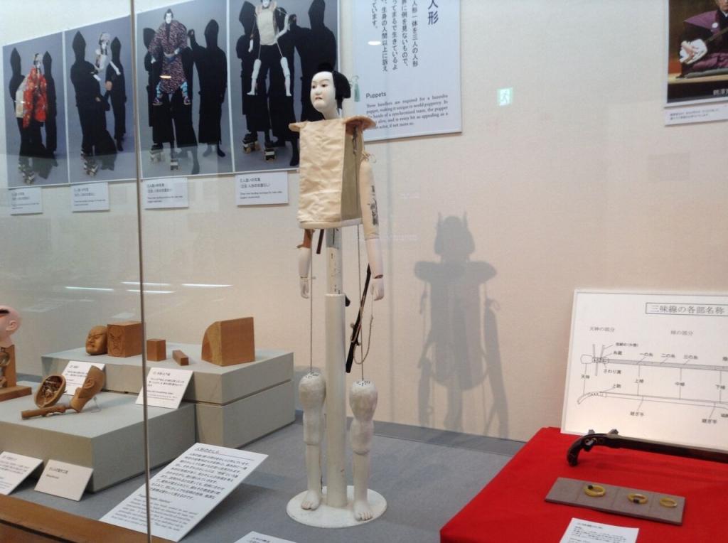 文楽劇場 人形の展示