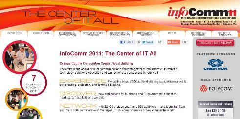 世界最大の業務用映像機器展示会 infoComm2011