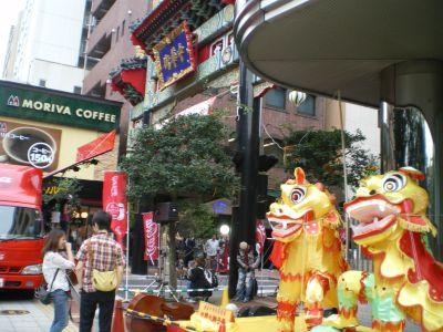 中華街ステージ横から