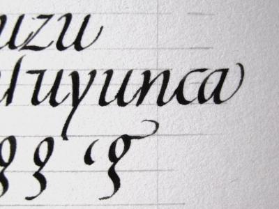 文字の練習…