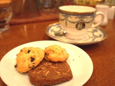 cafeご自慢のおいしいクッキー