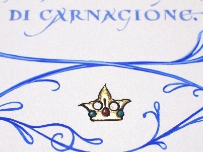 カリグラフィー作品:イタリアVISCONTI家の紋章