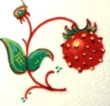 金粉で写本装飾