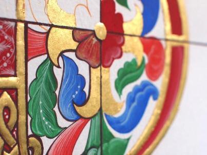装飾写本の中の金箔