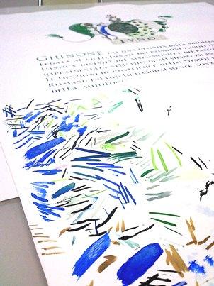 カリグラフィー作品 ・女神ユーノーの紋章