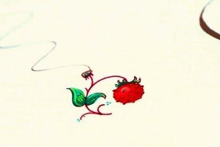 西洋写本の苺