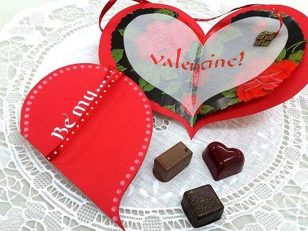 バレンタインカード カリグラフィー