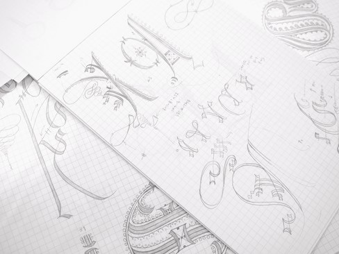 カリグラフィー教室モジ・アカデミア バスタルダ・カデル体 by カリグラファー西村弥生