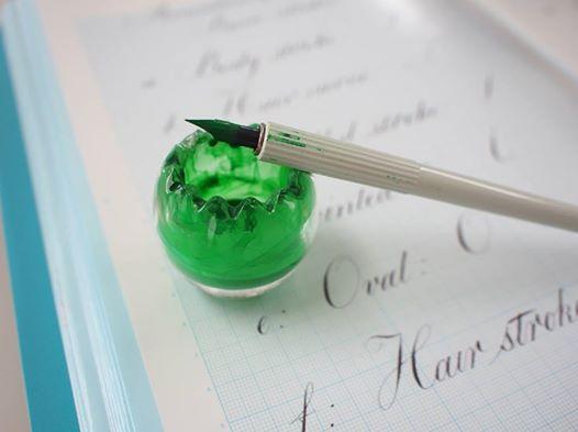 すてきなインク壺&顔料