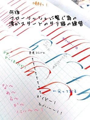 イタリック体は難しい!カリグラフィー教室モジ・アカデミア・カリグラファー西村弥生