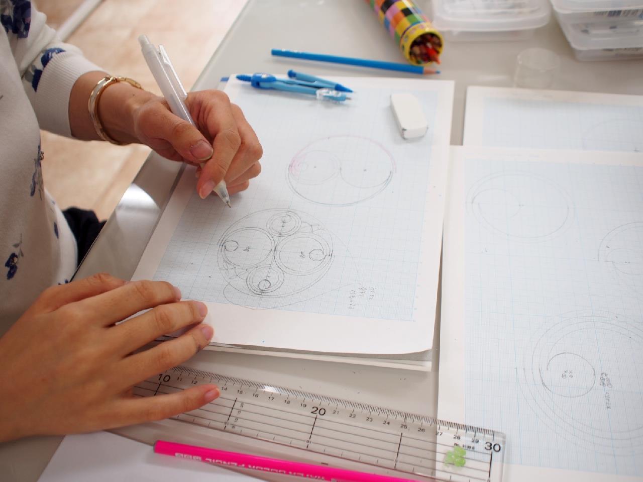カリグラフィーとイルミネーション(西洋写本装飾)の教室 モジ・アカデミア(南青山) by カリグラファー西村弥生