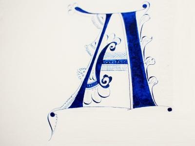 カリグラフィー(西洋書道)とイルミネーション(西洋写本装飾)の教室 モジ・アカデミア(南青山) by カリグラファー西村弥生