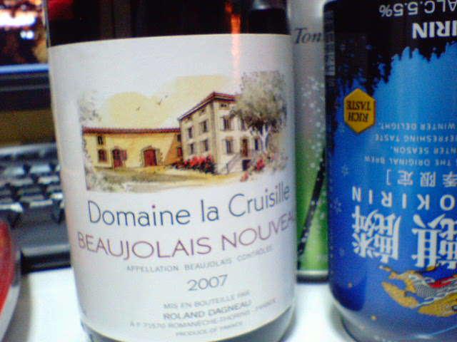 BEAUJOLAIS NOUVEAU2007_Domaine la Cruisille
