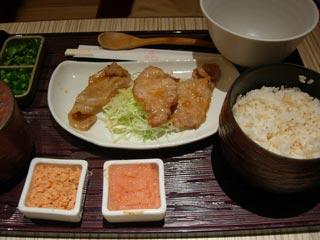 豚の生姜焼き膳