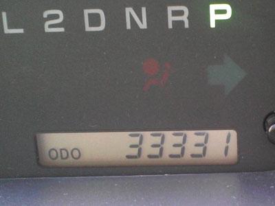 もうすぐ33333kmだよ〜〜〜
