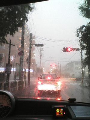 9月7日のゲリラ豪雨