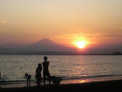 片瀬江ノ島での夕日