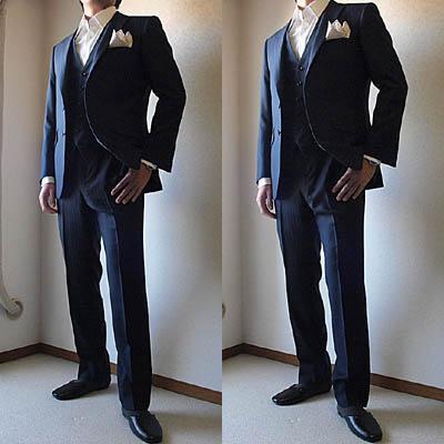 初めてお越し頂いたW様は会社の御友人様の結婚式、披露宴にご出席されるとのことで、結婚式用スーツをご注文頂きました。