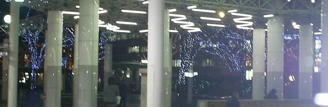 福島駅前のイルミネーション