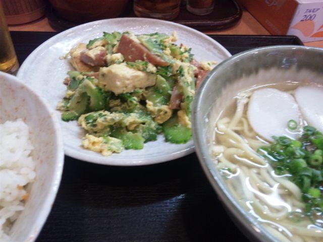 ゴーヤ定食