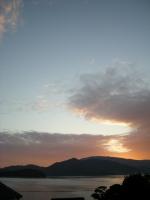 大芝島の夕景