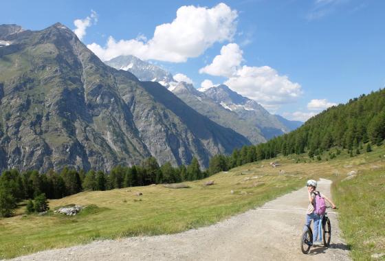 スイスでマウンテンバイク
