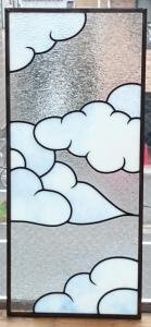 ステンドグラス 透明ガラス シンプル ナチュラル 可愛い