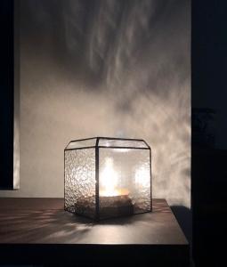 ステンドグラス シンプル ナチュラル ランプ 型板ガラス