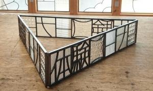 ステンドグラス シンプル ナチュラル 表札 型板ガラス