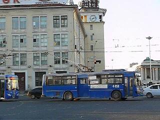 ウランバートルの無軌条電車
