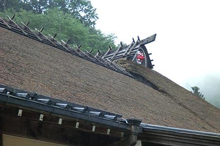 古峯ヶ原古峯神社 茅葺屋根