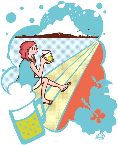 女性イラスト,ビールイラスト,夏イラスト,オリジナルイラスト