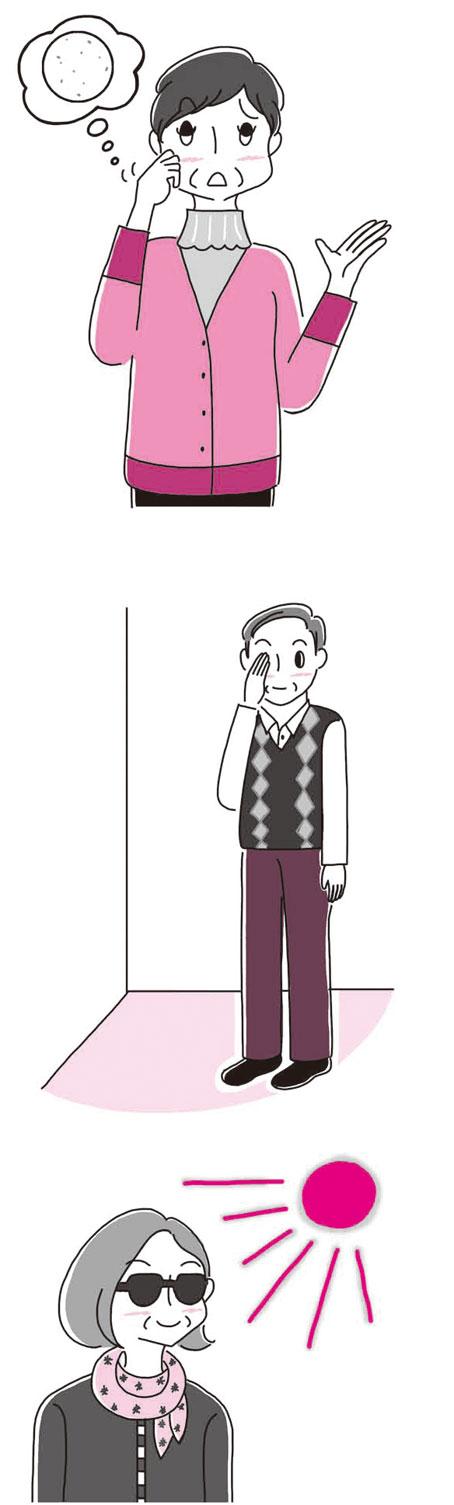 高齢者イラスト,健康イラスト,NHK出版 雑誌「きょうの健康」2014年3月号特集記事イラスト
