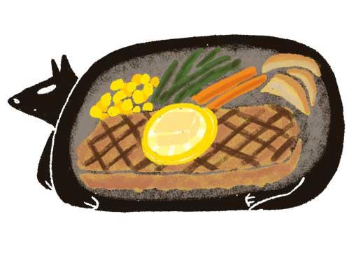 ステーキイラスト,食べ物イラスト,オリジナルイラスト