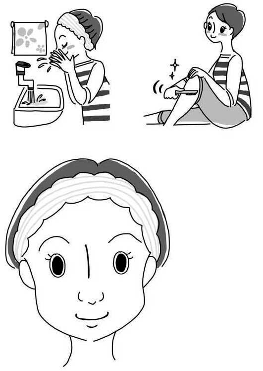 美容イラスト,健康イラスト,高齢者イラスト,マキノ出版 健康誌「安心」2016年5月号