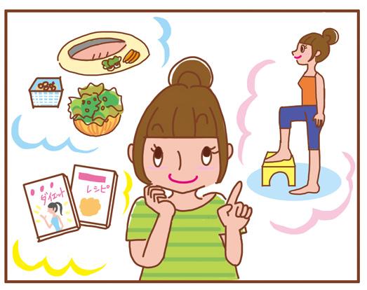 イラストルポ,ルポマンガ,体験漫画,WEB @cosume BeautySpecialist「5美容と健康&ダイエット関連の本♪」コラムマンガ