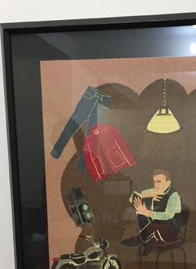 展示のお知らせ「わたしのお気に入りポスター展」イラスト,1950年代イラスト