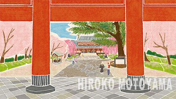 大本山増上寺様パンフレット表紙、見開きイラスト 冊子イラスト,表紙イラスト,お寺イラスト