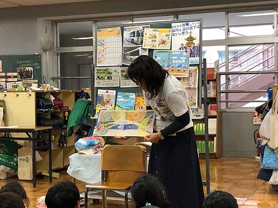 絵本「おまつりおばけめぐり」 杉並区の小学校で読み聞かせ&すごろくの授業をしてきました!