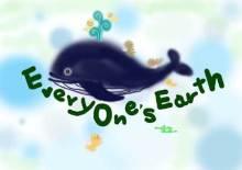 震災孤児支援イラスト「クジラと子供たち」