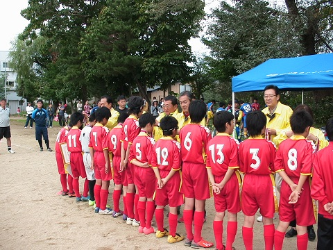 サッカー大会開会