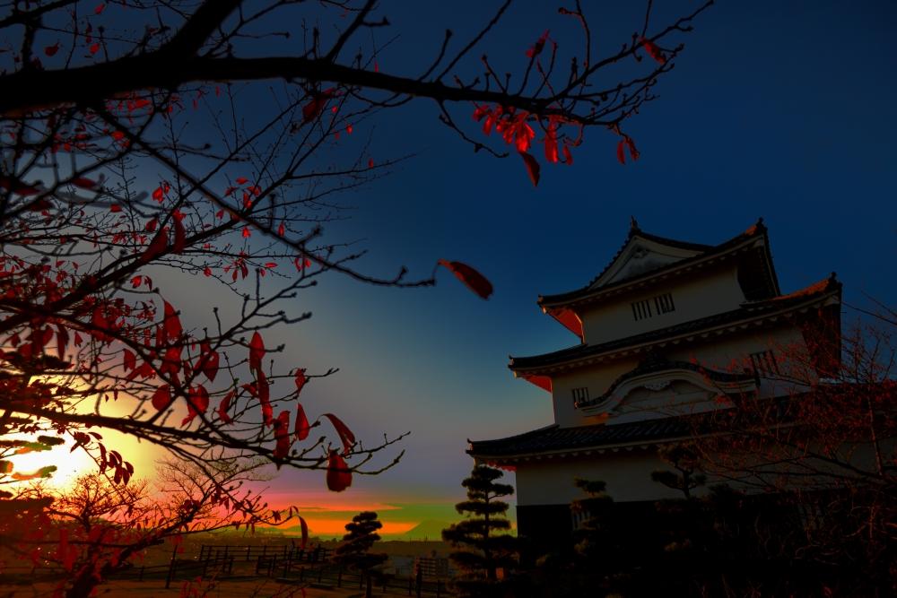 丸亀城,夕陽,四国