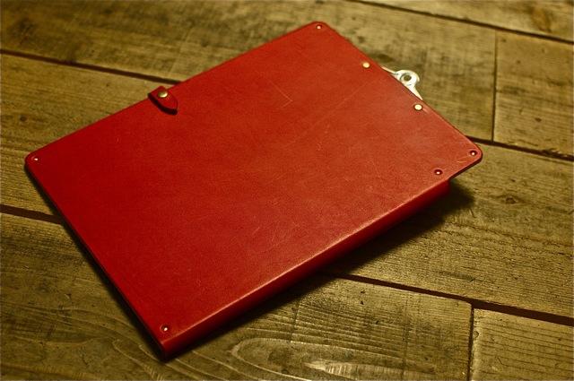 a4 clip board cover red a4クリップボードカバー レッド revista