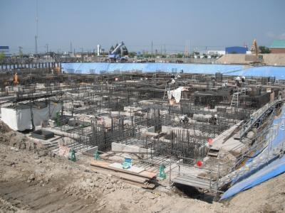 市民病院建設現場