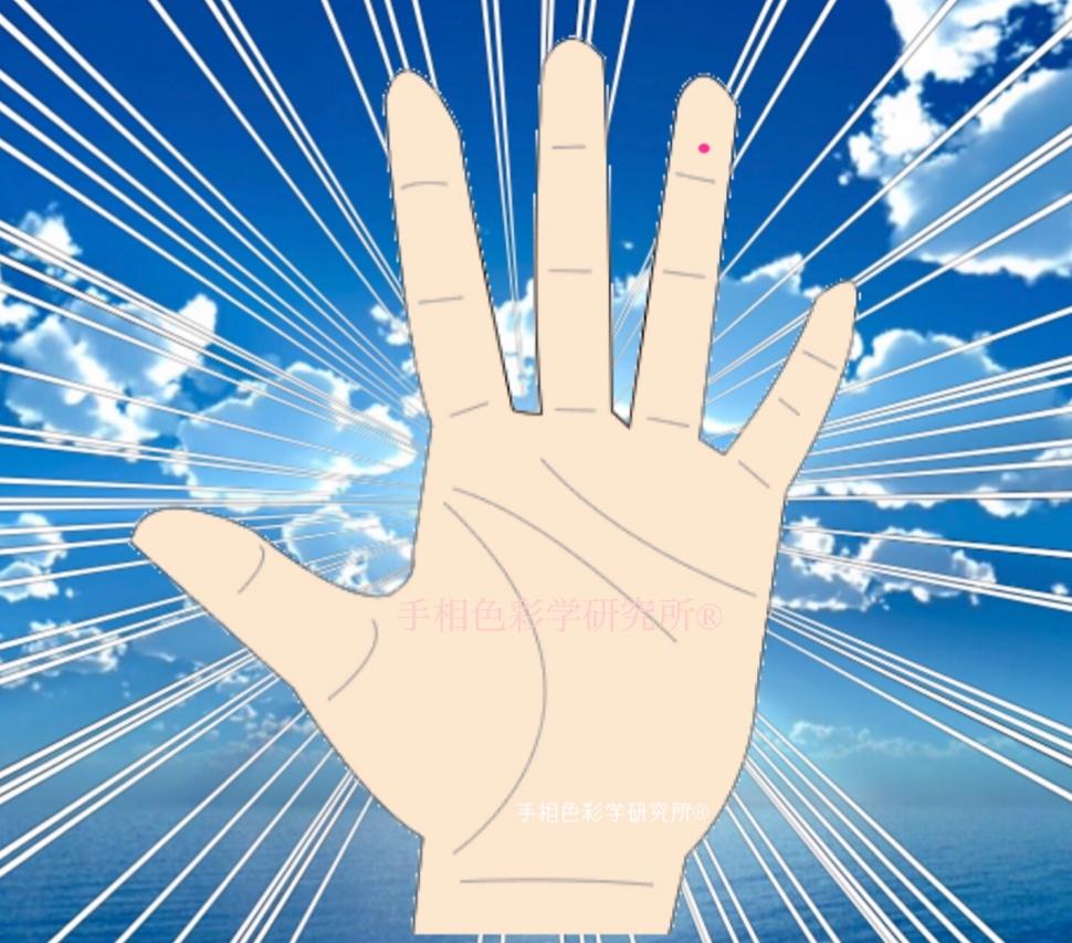手相色彩学研究所®手相:【薬指第1指黒子】
